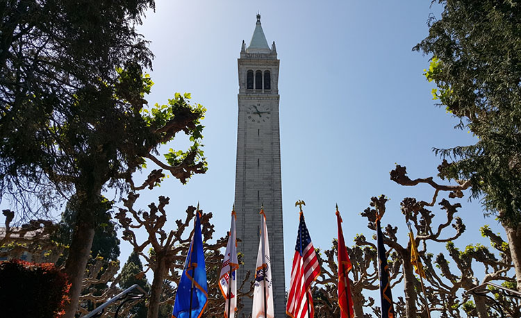 Campanile with Flags